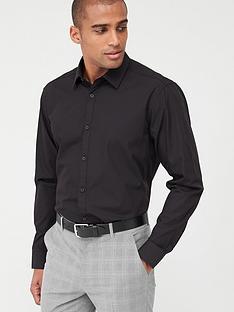 v-by-very-single-long-sleeved-easycare-shirt-black