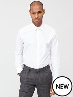 v-by-very-single-long-sleeved-easycare-shirt-white