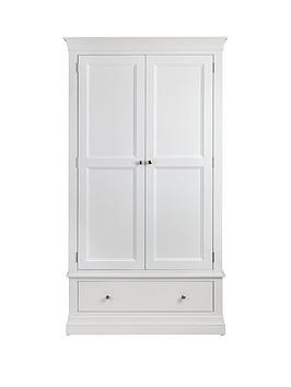 Julian Bowen Julian Bowen Clermont 2 Door, 1 Drawer Wardrobe - White Picture
