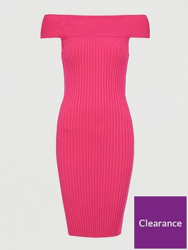 ted-baker-cold-shoulder-rib-bodycon-dress-pink