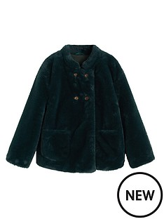 mango-girls-faux-fur-swing-coat-green