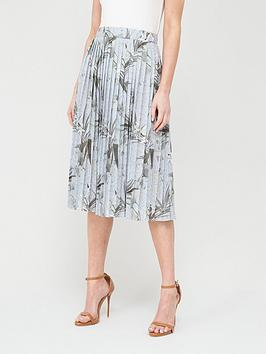 Ted Baker Ted Baker Estie Highland Jersey Pleated Skirt - Grey Picture