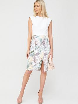 Ted Baker Ted Baker Hanalee Woodland Jersey Dress - White Picture