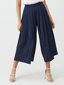 ted-baker-olloh-front-pleated-culotte-navy