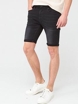 V by Very V By Very Slim Denim Shorts - Black Picture