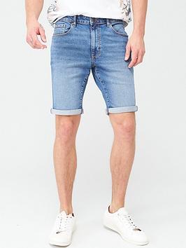 V by Very V By Very Slim Denim Shorts - Mid Wash Picture