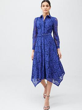 V by Very V By Very Lace Shirt Midaxi Dress - Blue Picture
