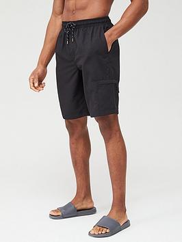 V by Very V By Very Basic Longer Length Swimshorts - Black Picture