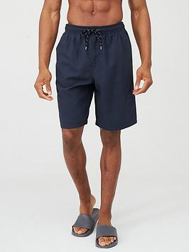 V by Very V By Very Basic Longer Length Swimming Shorts - Navy Picture