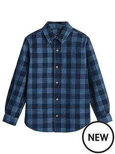 mango-boys-long-sleeve-check-denim-shirt-blue