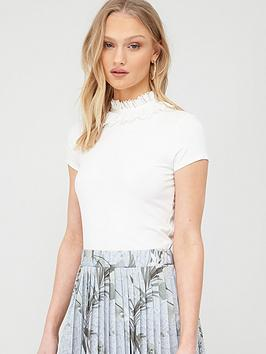 Ted Baker Ted Baker Orwla Frill Neck Detail T-Shirt - White Picture
