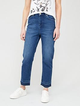 ted-baker-trayla-let-down-impressed-hem-jeans-navy