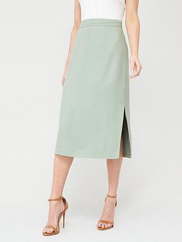Ted Baker Ted Baker Narlica Panel Detail Slit Column Skirt - Mint Picture