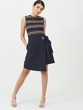 Ted Baker Ted Baker Anjelix Stripe Knitted Dress - Dark Blue Picture