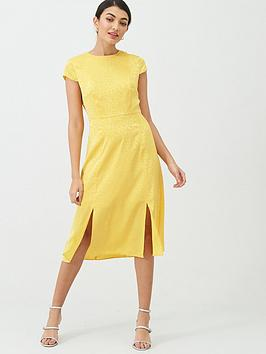 Ted Baker Ted Baker Bellana Soft Short Sleeve Midi Dress - Yellow Picture