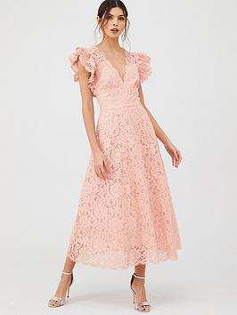 V by Very V By Very Bridesmaid Lace Midaxi Dress Picture