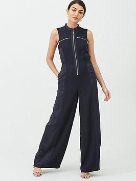 Ted Baker Ted Baker Kiberly Contrast Panel Jumpsuit - Dark Blue Picture