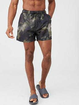 V by Very V By Very Camo Print Swimming Shorts - Camo - Green Camo Picture