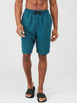 V by Very V By Very Basic Longer Length Swimming Shorts - Teal Picture
