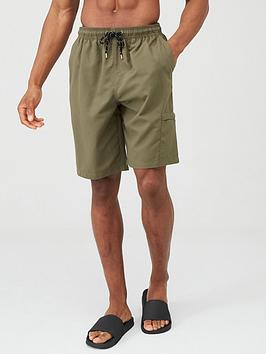V by Very V By Very Basic Longer Length Swimming Shorts - Khaki Picture