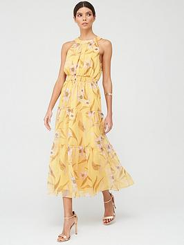 ted-baker-cabana-printed-tiered-midi-dress-yellow