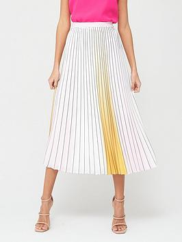 ted-baker-ombre-pleated-skirt-yellow