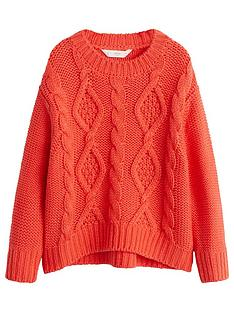 mango-girls-cable-knit-jumper-red
