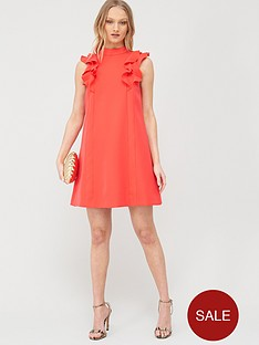 ted-baker-sunrey-ruffle-frill-swing-dress-coral