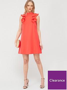 ted-baker-sunrey-ruffle-frill-swing-dress-coral