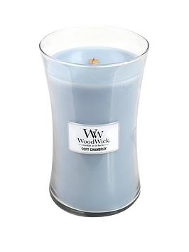 WoodWick Woodwick Large Hourglass Candle &Ndash; Soft Chambray Picture