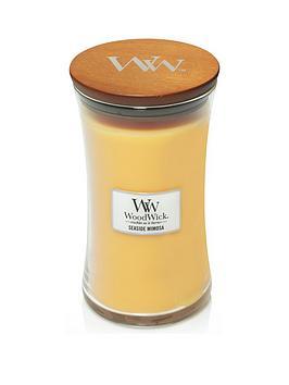 WoodWick Woodwick Large Hourglass Candle &Ndash; Seaside Mimosa Picture