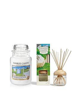 Yankee Candle Yankee Candle Clean Cotton Large Jar Candle And Reed  ... Picture