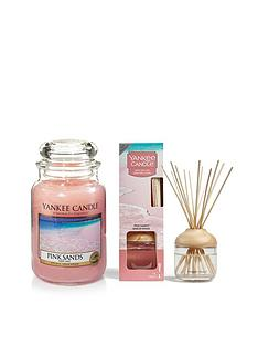 yankee-candle-pink-sands-large-jar-candle-and-reed-diffuser-bundle