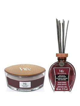 WoodWick Woodwick Ellipse Candle And Reed Diffuser Bundle &Ndash; Black  ... Picture