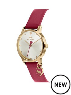 radley-radley-blush-and-silver-detail-heart-charm-dial-red-leather-strap-ladies-watch