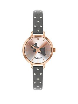 radley-radley-gold-and-grey-detail-dial-grey-and-gold-stars-leather-strap-ladies-watch