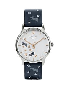 radley-radley-blue-with-rose-gold-and-grey-detail-dial-blue-star-and-dog-print-leather-strap-ladies-watch
