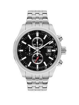 Citizen Citizen Citizen Black And Silver Detail Chronograph Dial Stainless  ... Picture