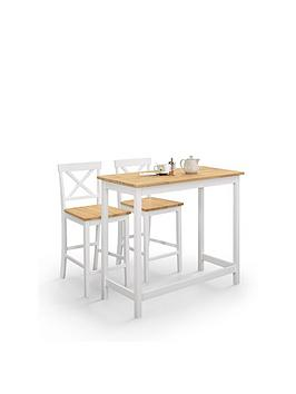 Julian Bowen Julian Bowen Marlow Bar Table And Set Of 2 Stools Picture