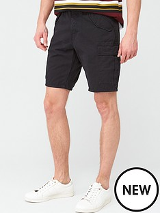 v-by-very-cargo-shorts-black