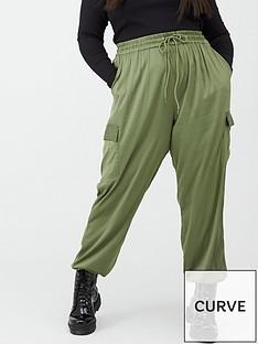 v-by-very-curve-satin-cargo-trousers-khaki