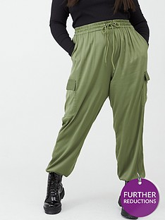 v-by-very-curve-satin-cargo-trousers-khaki
