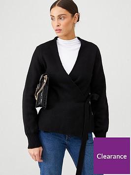 v-by-very-knit-wrap-cardigan-black