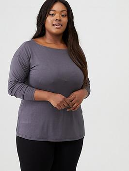 V by Very Curve V By Very Curve Essential Off The Shoulder Long Sleeve Top  ... Picture