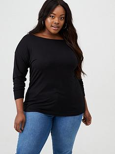 v-by-very-curve-essential-off-the-shoulder-long-sleeve-top-black