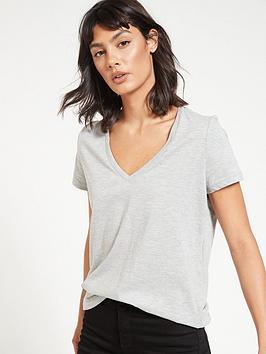 v-by-very-the-essential-v-neck-t-shirt-grey