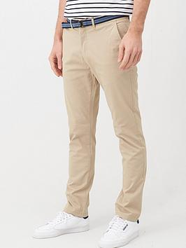 V by Very V By Very Belted Chino Trousers - Stone Picture