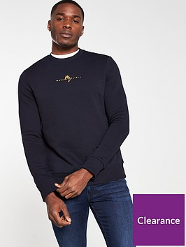 river-island-navy-slim-fit-maison-riviera-sweatshirt