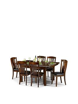 Julian Bowen Canterbury 120-160 Cm Extending Table And 6 Chairs