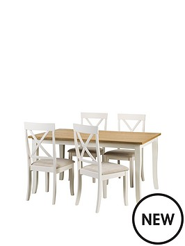 julian-bowen-davenport-150-cm-dining-table-and-4-chairs
